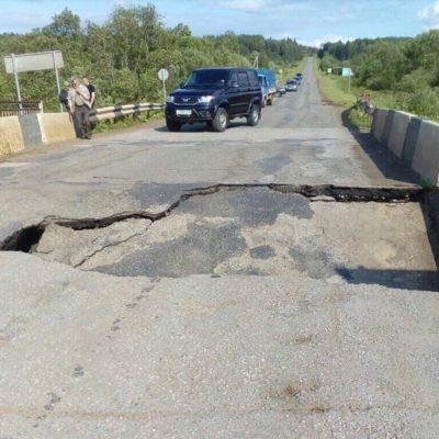 Шесть поселений отрезало от цивилизации — в Сивинском районе разрушился мост